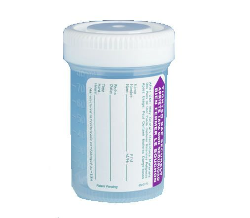Urine Collection Cups with Patient I.D. Label